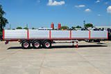 Open sided semitrailer with a loading capacity of 48 t