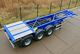 Tank-container semitrailer for 20 Ft and 30 Ft tanks