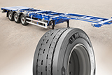 New MICHELIN on the Grunwald container semitrailers.