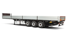Open-sided semitrailers
