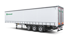 Curtain sided semitrailer with conics