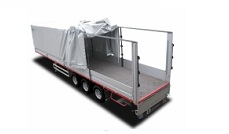 Tilt sided semitrailer